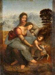 Леонардо да Винчи. Мадонна с младенцем и Святая Анна. Архетип матери и супружеские отношения.